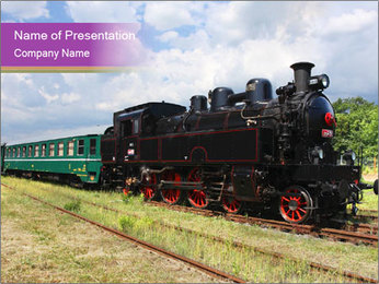Locomotive Museum Exposition PowerPoint Template