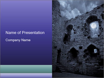 Castle Ruines at Night PowerPoint Template