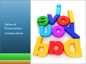 Colourful Letter Magnets PowerPoint Template