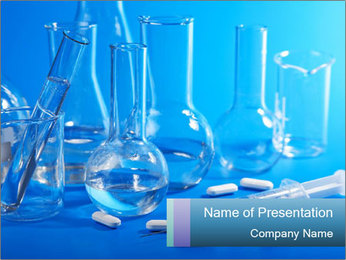 Glass Lab Flaks PowerPoint Template