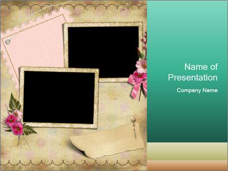 Vintage photo album powerpoint template backgrounds id 0000022729 vintage photo album powerpoint template toneelgroepblik Images