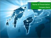 Internet Connection Around the World Шаблоны презентаций PowerPoint