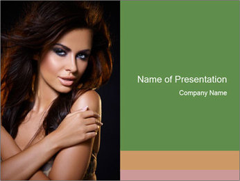 Woman with Seducing Look PowerPoint Template
