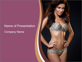 Woman with Feminine Body PowerPoint Template