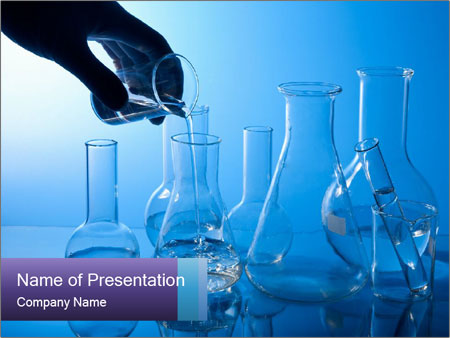 Laboratory Flasks PowerPoint Template, Backgrounds & Google Slides ...