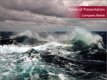 Stormy Sea Waves PowerPoint Template