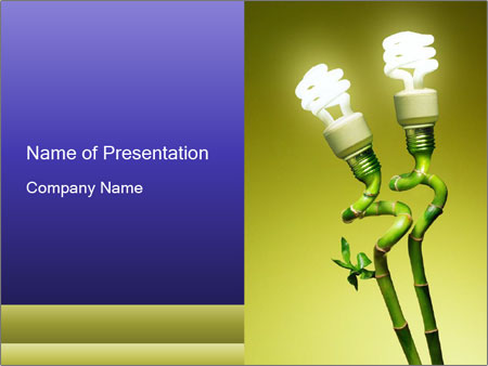 Green Canes With Economic Lamps Powerpoint Template Backgrounds