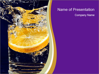 Martini with Orange PowerPoint Template