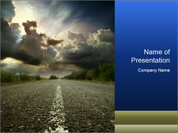 Scary Road PowerPoint Template