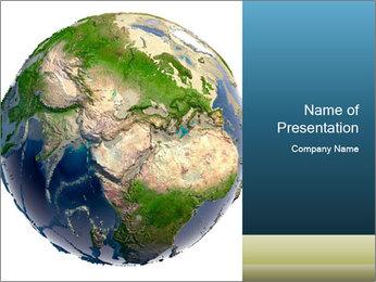 3D Globe for School PowerPoint Template