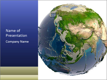 Detailed 3D Globe PowerPoint Template