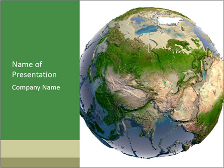 3D Geography Map PowerPoint Template & Backgrounds ID 0000023156 ...
