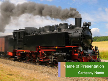 Driving Steam Train PowerPoint Template