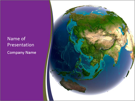 3D Globe for Geography Lesson PowerPoint Template & Backgrounds ID ...