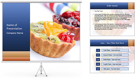 healthy dessert with fruits powerpoint template