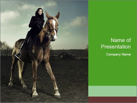 Vogue Shooting With Horse Powerpoint Template Backgrounds Google
