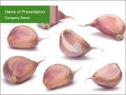 Organic Garlic PowerPoint Templates
