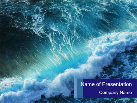 strong gale in the ocean powerpoint template & backgrounds id, Modern powerpoint