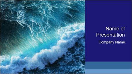 strong gale in the ocean powerpoint template backgrounds google