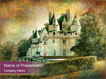 Picture with Antique Castle PowerPoint Template