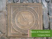 Street in Croatia with Cover Sewer Manhole PowerPoint Templates