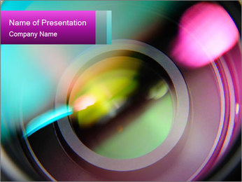 Abstract Colorful Lens PowerPoint Template