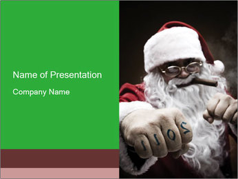 Gangster in Santa Claus Costume PowerPoint Template