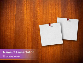 Two Blank Notes on Board PowerPoint Template