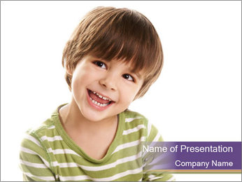 Adorable Little Boy PowerPoint Template
