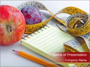 Notebook and Fresh Fruits PowerPoint Templates