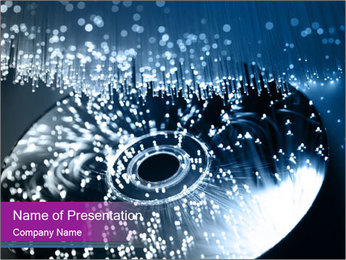 CD in Water PowerPoint Template