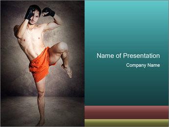 Professional Kickboxer PowerPoint Template