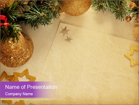 Traditional Christmas Decoration Powerpoint Template Backgrounds