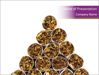 Cigarettes Pyramid PowerPoint Template