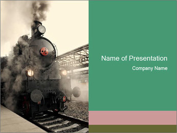 Old Fashioned Train PowerPoint Template