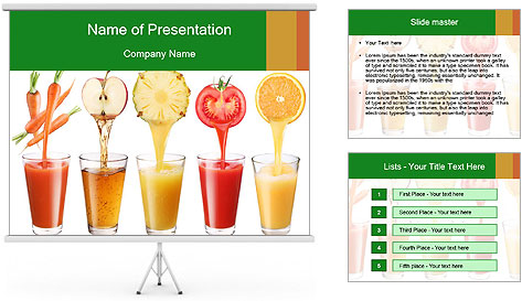 Juice Bar PowerPoint Template Backgrounds ID 0000023734 – Powerpoint Flyer Template