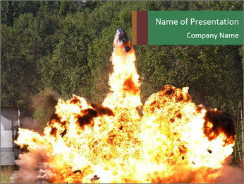 Massive Fire Explosion PowerPoint Template
