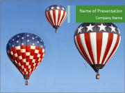 American Balloons in the Sky PowerPoint Templates