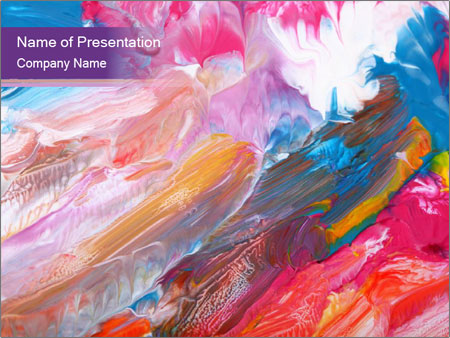 Abstract oil painting powerpoint template backgrounds google abstract oil painting powerpoint template toneelgroepblik Choice Image