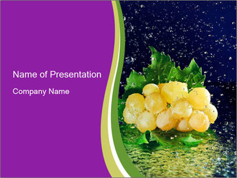 Fresh White Grapes PowerPoint Template