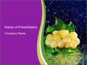 Fresh White Grapes PowerPoint Templates