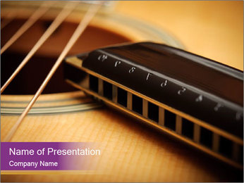 String of Guitar PowerPoint Template