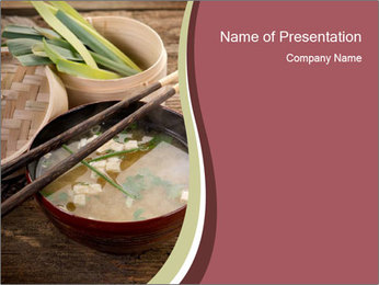 Asian Tofy Soup PowerPoint Template