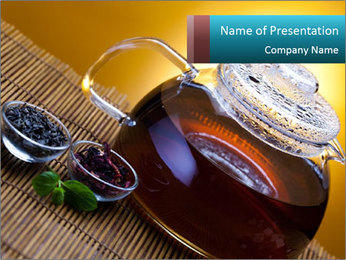 Pot of Chinese Tea PowerPoint Template