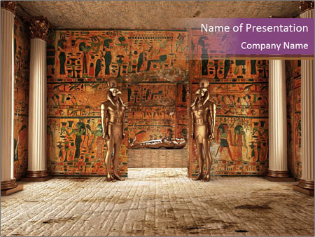 Tomb In Egypt Powerpoint Template Backgrounds Google Slides Id