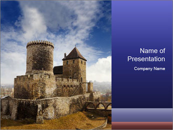 Castle in Poland PowerPoint Template