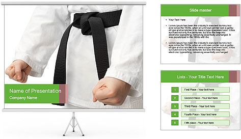 Taekwondo PowerPoint Template Backgrounds ID 0000024113 – Powerpoint Flyer Template