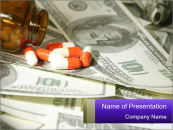 US Dollars and Pills PowerPoint Template