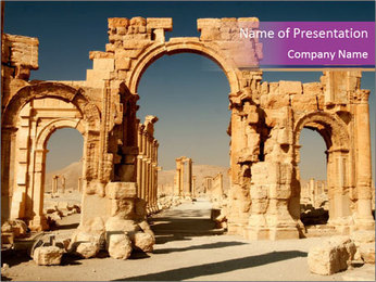 Antient Ruins of Palmyra PowerPoint Template