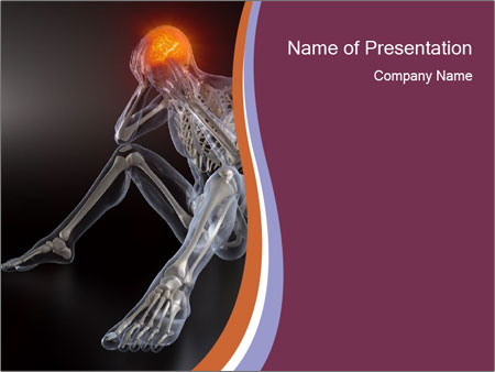 Human skull x ray powerpoint template backgrounds id 0000024213 human skull x ray powerpoint templates toneelgroepblik Choice Image